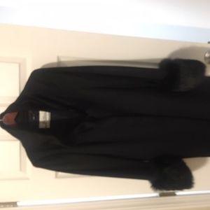 Woman's winter coat with fur trim
